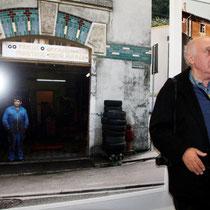 Raymond Depardon, lors du vernissage de son exposition, au siège de la Région Rhône-Alpes - Lyon - Novembre 2012 © Anik COUBLE