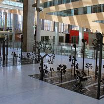 Le plateau d'exposition, du siège la Région Rhône-Alpes © Anik COUBLE