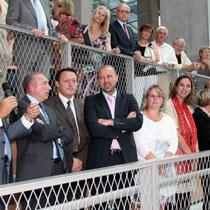 Une partie de l'exécutif,Jean-Jack Queyranne, Gérard Collomb, Thierry Braillard, Jean-François Debat  / Photo : Anik Couble