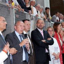 Jean-Jack Queyranne, Gérard Collomb, Thierry Braillard, Jean-François Debat, Cécile Cukierman, Christiane Puthod  / Photo : Anik Couble