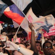 Meeting de Francois Hollande à Lyon / Photo : Anik Couble