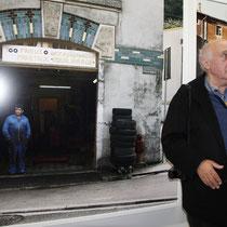 Raymond Depardon, lors du vernissage de son exposition au siège de la Région Rhône-Alples  - Lyon - Novembre 2012 © Anik COUBLE