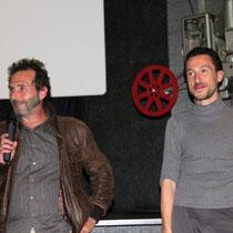 """Serge RIVRON et Angelo CIANCI, réalisateur de """"Dernier étage gauche gauche"""" / Photo : Anik COUBLE"""