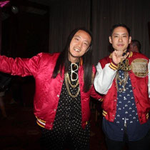"J- Splif et Kev Nish du groupe ""Far East Movement"" - Lyon - 25 avril 2012 © Anik COUBLE"