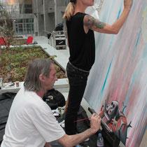 Caia Koopman  (USA) et Reg Mombasa (Australie) en plein travai  - Lyon - Septembre 2011 © Anik COUBLE