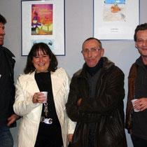Jean-Paul GUYON, Anik COUBLE, un membre du Jury et Marc BARBE