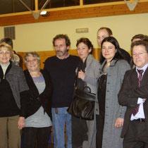 Sévy WEBER au milieu des organisateurs et des membres du Jury / Photo : Anik COUBLE