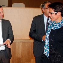 Benoît Hamon, Florence Jany-Catrice  et Jean-Jack Queyranne - Journées de l'Economie (Jéco) - Lyon - Novembre  2013 - Photo © Anik COUBLE