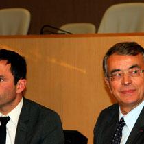 Benoît Hamon et Jean-Jack Queyranne - Journées de l'Economie (Jéco) - Lyon - Novembre  2013 - Photo © Anik COUBLE