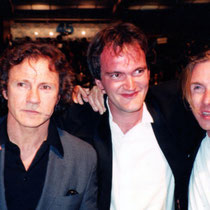 "Harvey Kheitel, Quentin Tarantino et Tim Roth à la sortie de la projection du film ""Reservoirs Dogs""- Festival de Cannes - 1992 - Photo © Anik COUBLE"