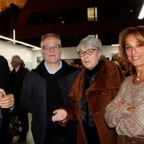 Jean-Jack Queyranne, Thierry Fremaux, Claudine Nougaret et Farida Boudaoud  - Lyon - Novembre 2012 © Anik COUBLE