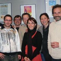 Sévy WEBER entourée des organisateurs du Festival  / Photo : Anik COUBLE
