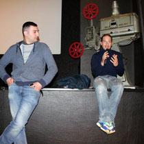 """Teddy LUSSI-MODESTE, réalisateur de """"Jimmy Rivière"""" et David RIBEIRO, comédien  / Photo : Anik COUBLE"""