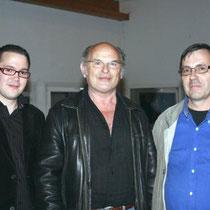 Jean-François Stevenin, entouré de Jérémy et Jean-Claude Frenette  / Photo Anik Couble