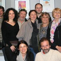 Sévy WEBER entourée du Jury 2010 et de Serge RIVRON / Photo : Anik COUBLE