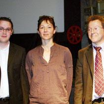Sévy WEBER, présidente du Jury, entourée de Jérémy FRENETTE et Gilles BERNARD / Photo : Anik COUBLE