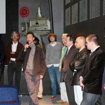 """Au micro, Angelo CIANCI, réalisateur de """"Dernier étage gauche gauche""""  / Photo : Anik COUBLE"""