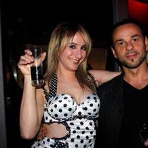 """Anthony et Vanessa lors de la soirée d'inauguration du restaurant """"Les Salins"""",  à Lyon Confluence © Anik COUBLE"""