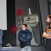 """Teddy LUSSI-MODESTE, réalisateur de """"Jimmy Rivière"""" et David RIBEIRO, comédien et Christophe LIABEUB / Photo : Anik COUBLE"""