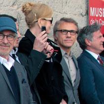 Steven Spielberg, Nicole Kidman, Christopher Waltz, Daniel Auteuil et Vidya Balan - Festival de Cannes 2013 © Anik COUBLE