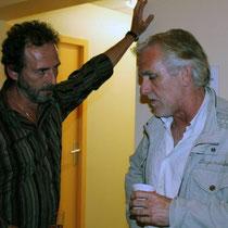 Serge RIVRON en discussion avec Dominique LADOGE, président du jury / Photo : Anik COUBLE