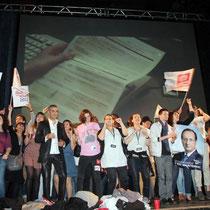 6 mai 2012 : Victoire de François Hollande - Fête du Changement - Lyon / Photo : Anik Couble