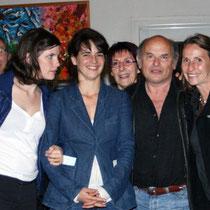 Sophie Laloy,  Judith Davis, Jean-François Stevenin et sa femme Claire,  entourés du Jury  / Photo Anik Couble