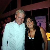 """Christian Tetedoie et Anik Couble, lors de la soirée d'inauguration de son restaurant """"Les Salins"""", à Lyon Confluence"""