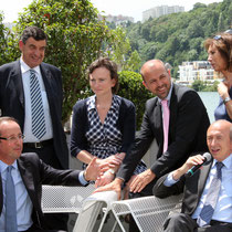 Conférence de Presse François HOLLANDE et Gérard COLLOMB - Lyon 2011 © Anik COUBLE
