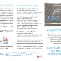 Konfirmation in Hamburg – DIN lang Folder außen
