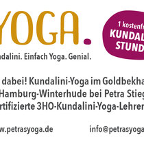 Petras YOGA – DIN A6 Flyer Rückseite