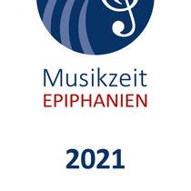 Musikzeit Epiphanien 2021 – DIN lang Flyer Vorderseite