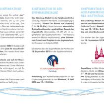 Konfirmation in Hamburg – DIN lang Folder innen