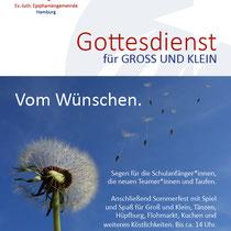 Ev.-luth. Epiphaniengemeinde Hamburg – DIN A6 Flyer
