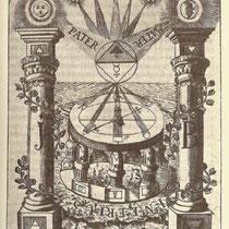Les colonnes Jakin et Boaz - par Adam Michael Birkholz - Le Compas des Sages/Der Compass der Weisen 1779