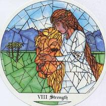 VIII La Force - Le tarot des Cloîtres