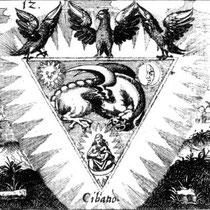 Philosophia reformata, Emblème XII, Johann Daniel Mylius, 1622