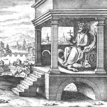 De Lapide Philosophorum, neuvième figure, Lambsprinck, fin du XVI siècle