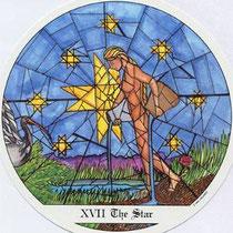 XVII L'Étoile - Le tarot des Cloîtres