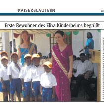 Erste Bewohner des Elyia Kinderheimes begrüßt