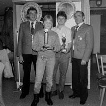 v. l.: Reinhard Fried, Helmut Rauh, Johnn Waldhör, Herbert Roth