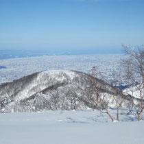 富山・砺波の散居村が広がる