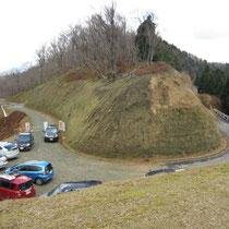 おにゅう峠。福井県側は通行止め