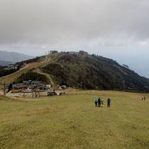 蓬莱山を下る(鹿のふんだらけ)