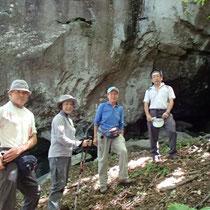 信玄の隠岩とやらを見学