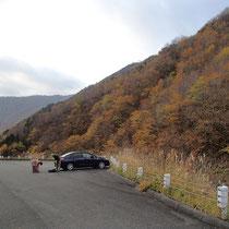 岐阜県側駐車場はすいていました