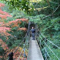 枝谷には立派な吊橋が架けられていました