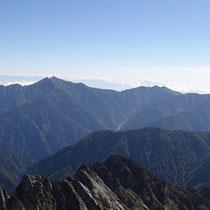 【剱岳山頂から】後立山の大パノラマ