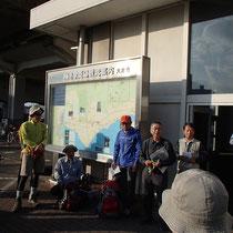 和邇駅での開会行事