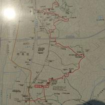 京都東山トレイルの地図